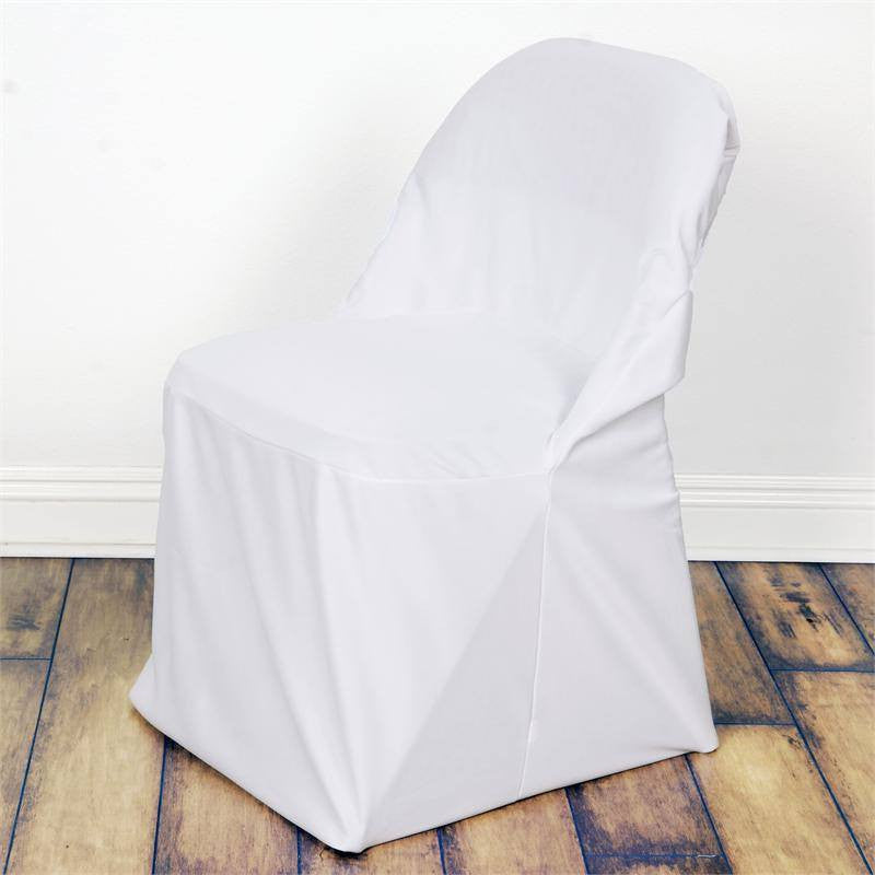 White Chic-look Stretch Scuba for Folding Chair Cover