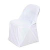 Premium White Spandex Scuba Folding Chair Covers