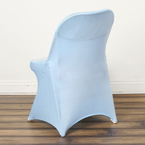 SLEEK Spandex Folding Chair Cover - Serenity Blue