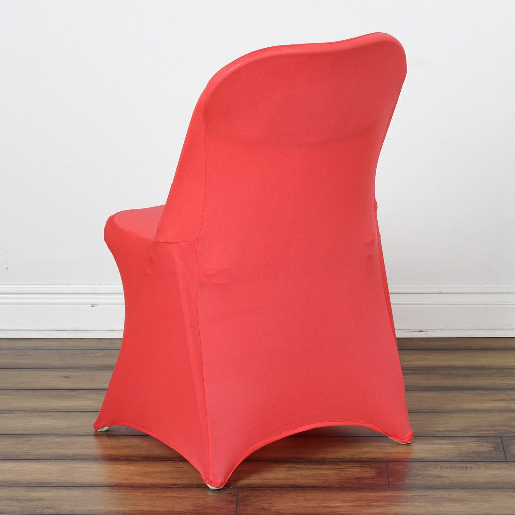 Folding chair covers wholesale under 1 -  Sleek Spandex Folding Chair Cover Coral