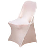 Spandex Stretch Folding Chair Cover - Blush