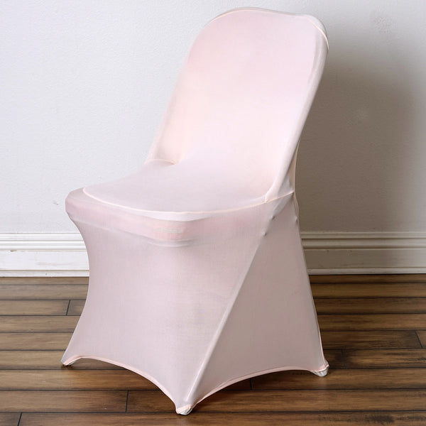 Blush | Rose Gold Spandex Stretch Folding Chair Cover