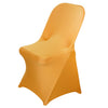 Spandex Stretch Folding Chair Cover - Gold