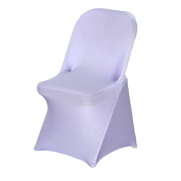 Lavender Spandex Stretch Folding Chair Cover