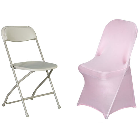 Pink Spandex Stretch Folding Chair Cover