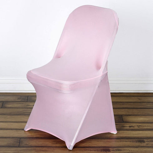 SLEEK Spandex Folding Chair Cover - Pink