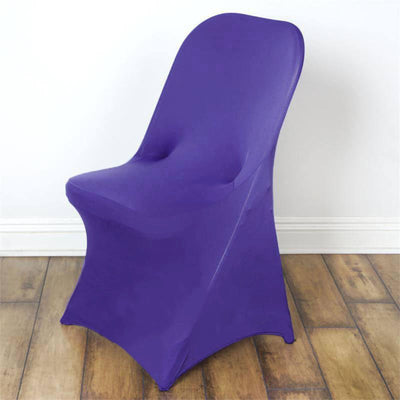 Purple Spandex Stretch Folding Chair Cover