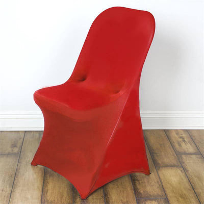 Red Spandex Stretch Folding Chair Cover