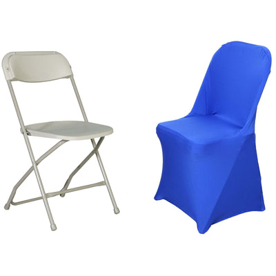 Superb Royal Blue Spandex Stretch Folding Chair Cover Caraccident5 Cool Chair Designs And Ideas Caraccident5Info