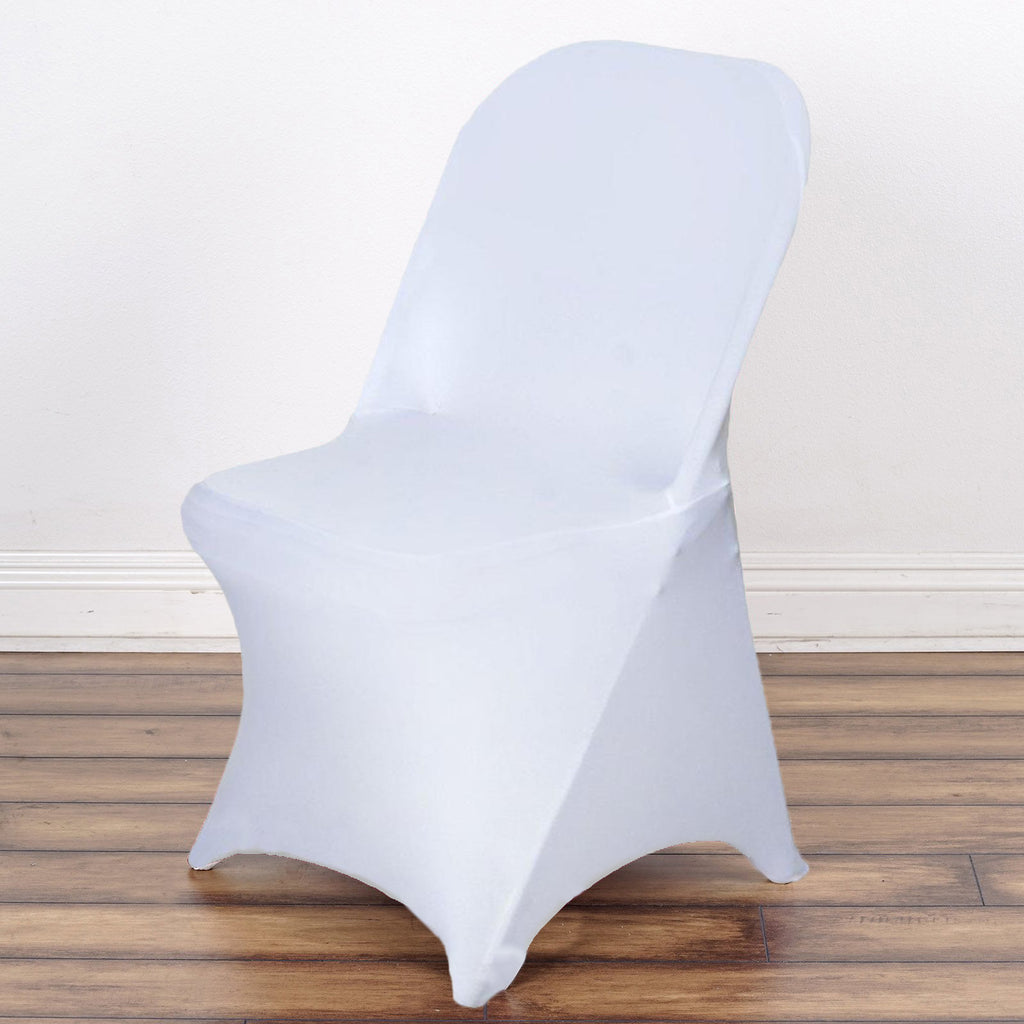 SLEEK Spandex Folding Chair Cover White