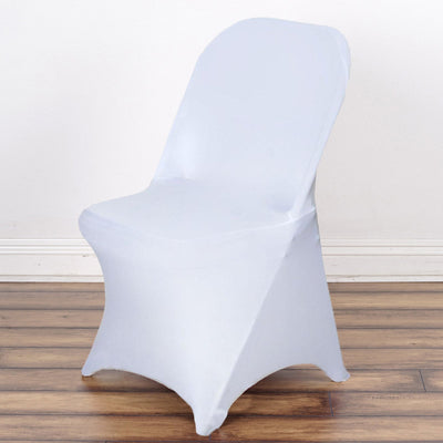 SLEEK Spandex Folding Chair Cover - White