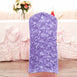 Lavender Satin Rosette Stretch Banquet Spandex Chair Cover
