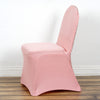 Rose Gold Spandex Stretch Banquet Chair Cover With Metallic Glittering Back