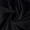 Black Spandex Stretch Banquet Chair Cover With Metallic Glittering Back