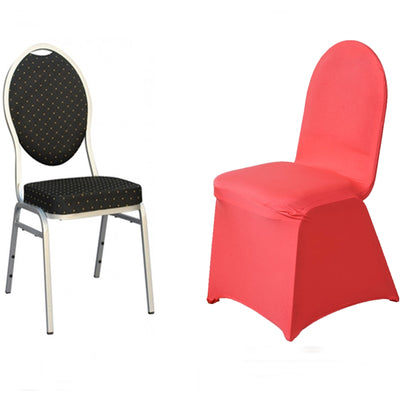 Coral Spandex Stretch Banquet Chair Cover
