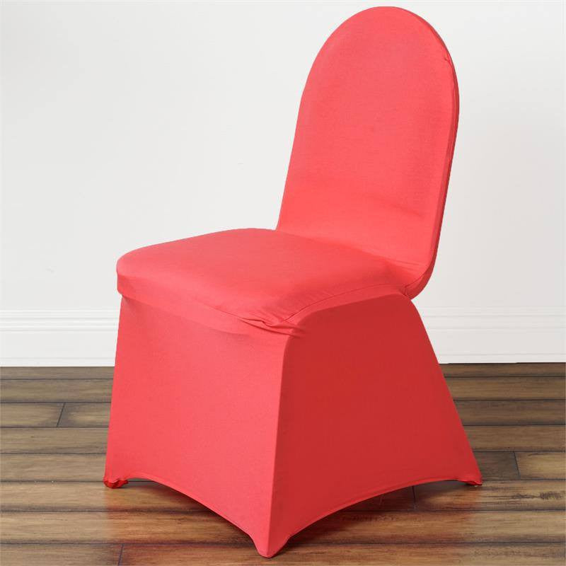 Spandex Stretch Banquet Chair Cover Coral Efavormart