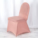 160GSM Dusty Rose Stretch Spandex Banquet Chair Cover With Foot Pockets