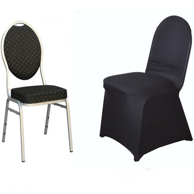 Black Spandex Stretch Banquet Chair Cover