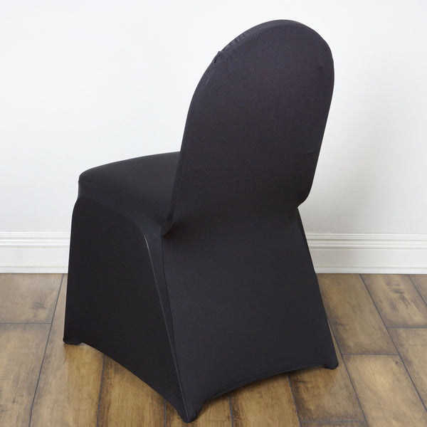 Spandex Stretch Banquet Chair Cover Black Efavormart