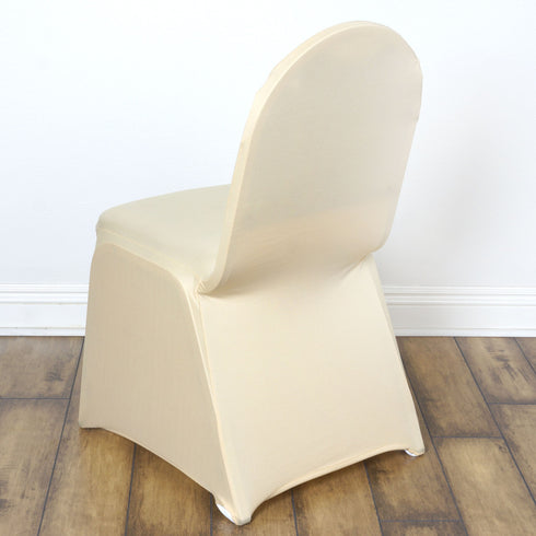 Champagne Banquet Spandex Chair Cover