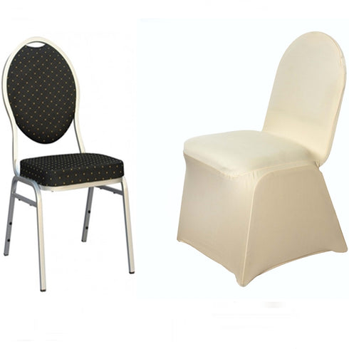 Champagne Spandex Stretch Banquet Chair Cover
