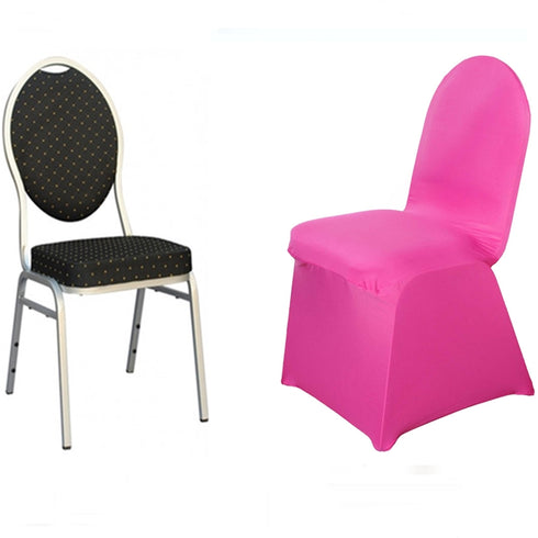 Fushia Spandex Stretch Banquet Chair Cover