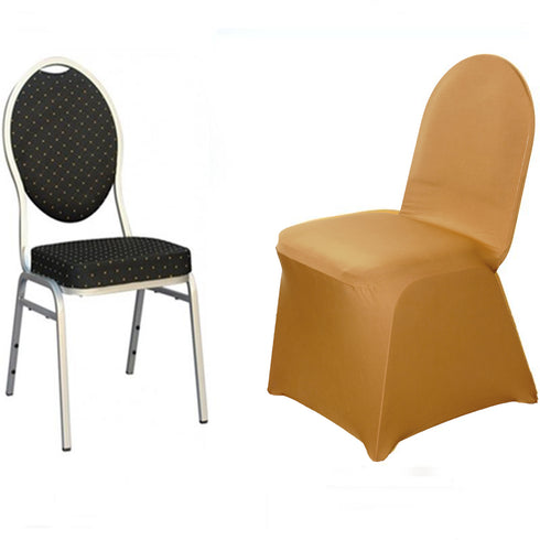 Gold Banquet Spandex Chair Cover