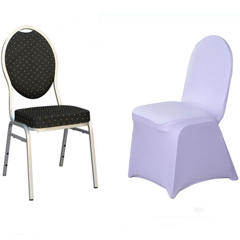 Lavender Spandex Stretch Banquet Chair Cover