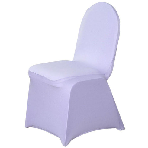160GSM Lavender Stretch Spandex Banquet Chair Cover With Foot Pockets