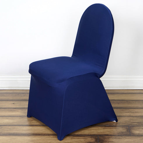 Spandex Stretch Folding Chair Cover - Navy Blue