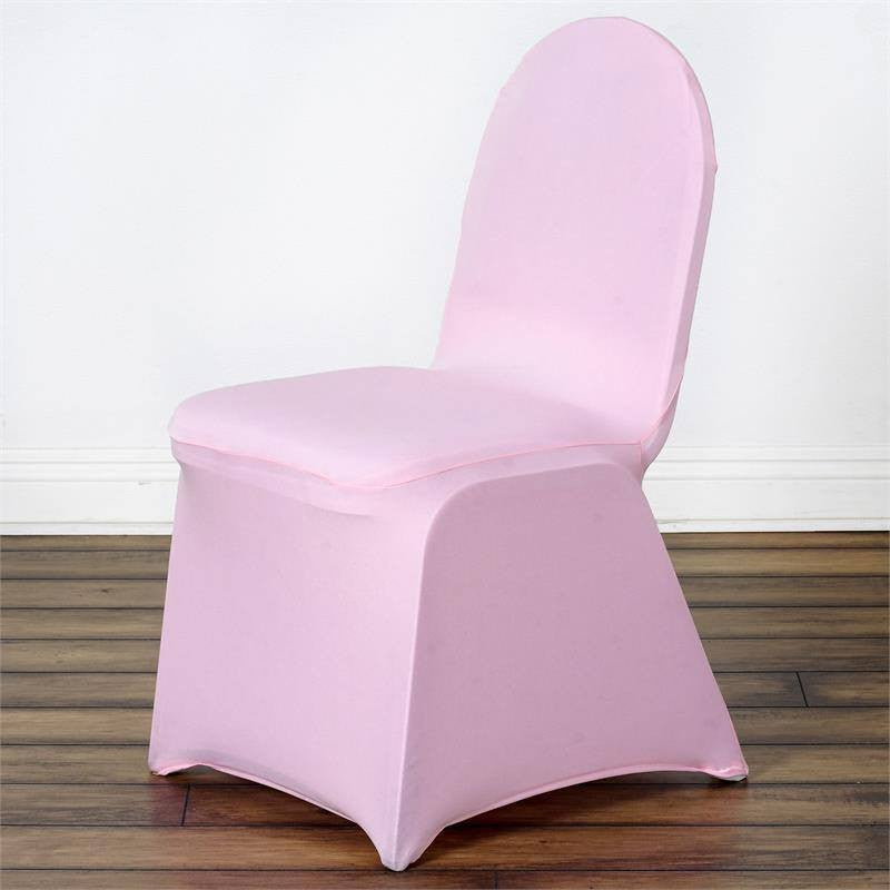 Super 160Gsm Pink Stretch Spandex Banquet Chair Cover With Foot Pockets Beatyapartments Chair Design Images Beatyapartmentscom