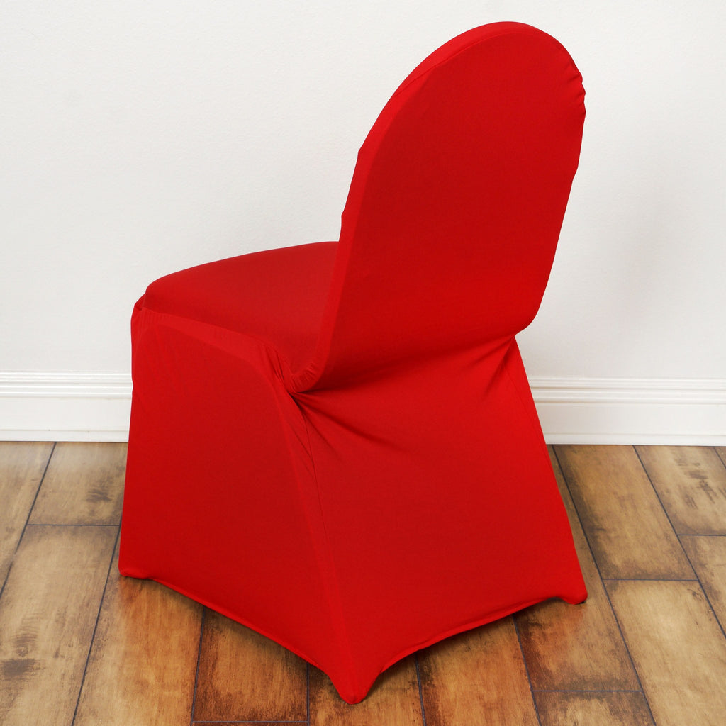 Spandex Stretch Banquet Chair Cover Red Efavormart