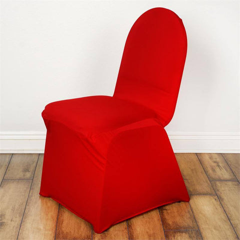 Red Banquet Spandex Chair Cover