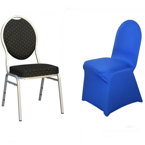 Royal Blue Spandex Stretch Banquet Chair Cover
