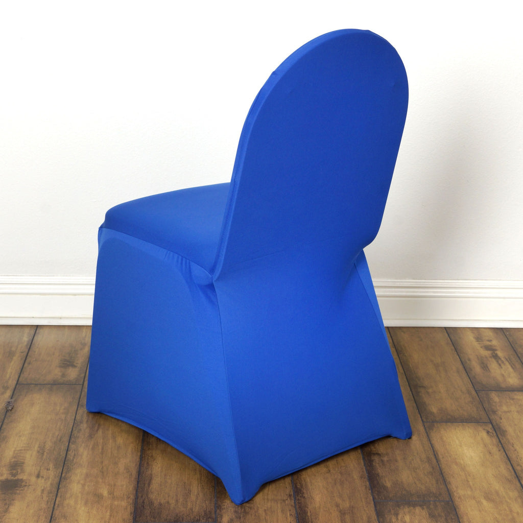 Royal Blue Spandex Chair Cover Efavormart