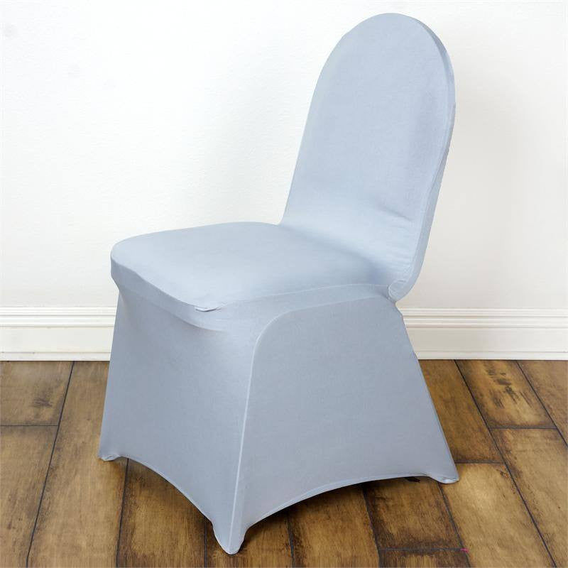 Silver Spandex Chair Cover Efavormart