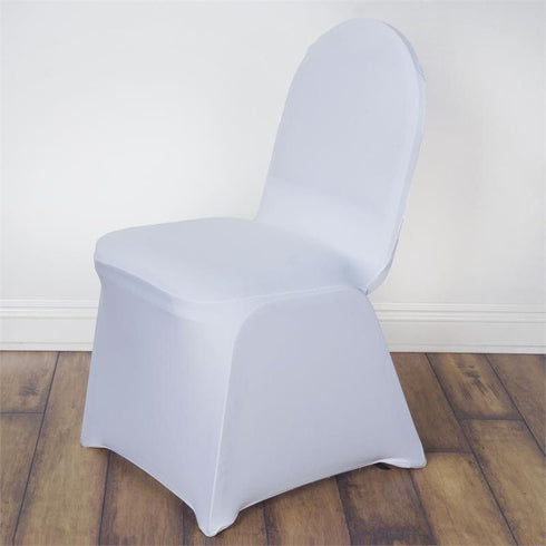 160 Gsm White Stretch Spandex Banquet Chair Cover With