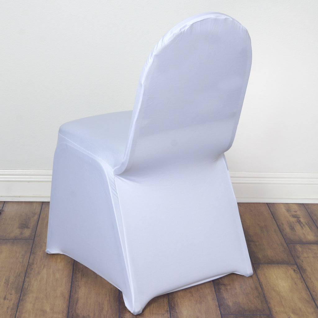 Spandex Stretch Banquet Chair Cover White Efavormart
