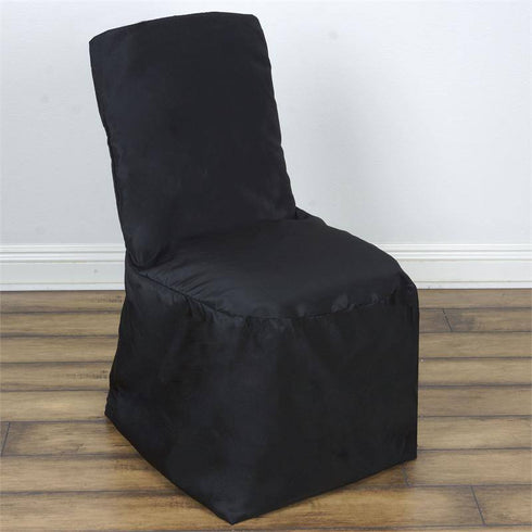 Black Square Top Banquet Chair Cover