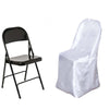 Ivory Satin Folding Chair Covers[overlay]Fits over Folding Style Chairs