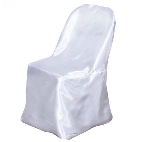 2da9e390a White Satin Folding Chair Covers
