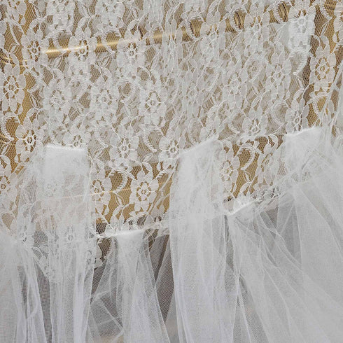 Ivory Lace And Tulle Tutu Chair Covers