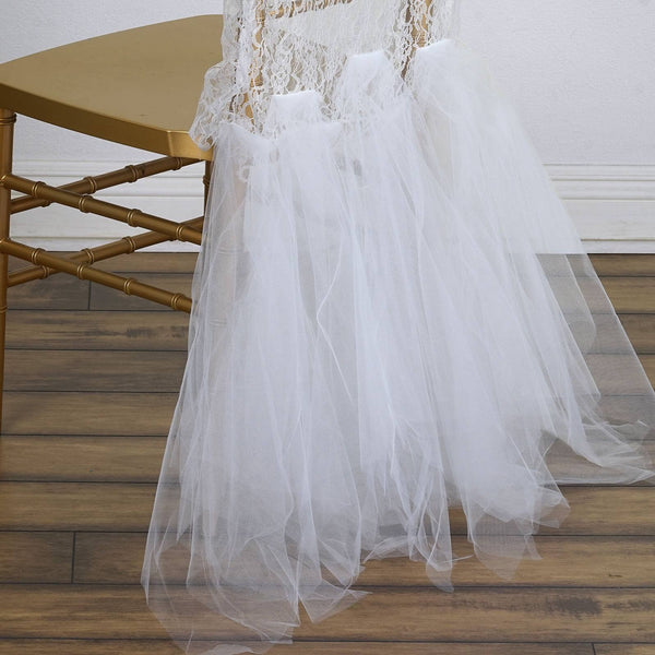 Bridal Party Lace And Tulle Tutu Chair Covers White