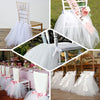 Black Lace And Tulle Tutu Chair Covers