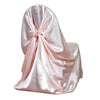 Rose Gold | Blush Universal Satin Chair Cover[overlay]Fits over Banquet, Folding and Chiavari Style Chairs