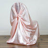 Universal Satin Chair Cover- Rose Gold | Blush