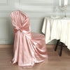 Dusty Rose Satin Universal Chair Cover