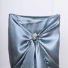Dusty Blue Universal Satin Chair Covers
