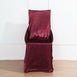Burgundy Universal Satin Chair Covers