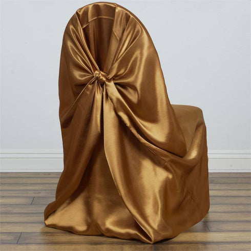 Gold Universal Satin Chair Covers